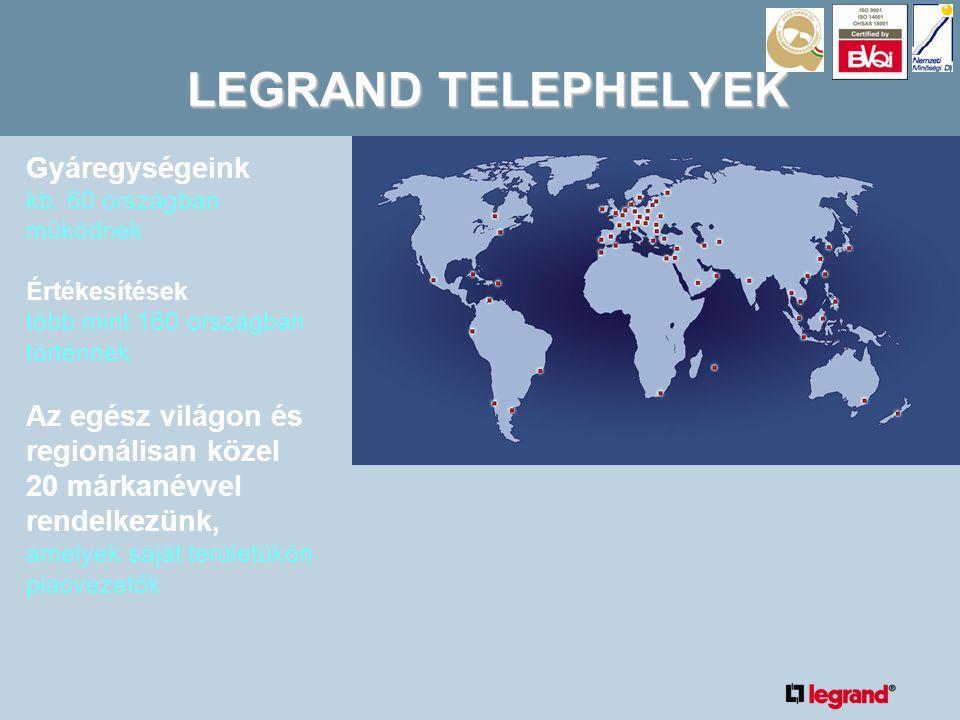 Az elosztás területén 10 éve  1996Új Legrand Lexic kismegszakítók  1998 Új DPX MCB  2002Új XL Pro2 szoftver elosztó szekrények tervezéséhez  2003 Új DMX csupasz megszakítók akár 4000 amperes kapacitással.