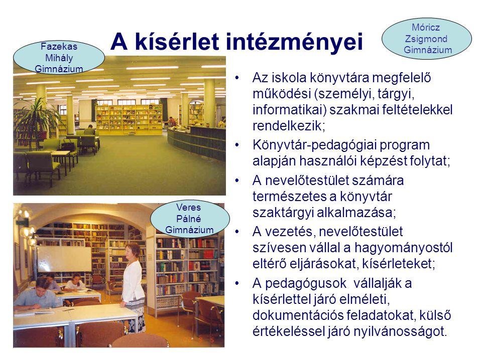 A kísérlet tartalma, közreműködői HelyszínTartalom/óraszámműveltségterülettanulók Fazekas Mihály Főv.