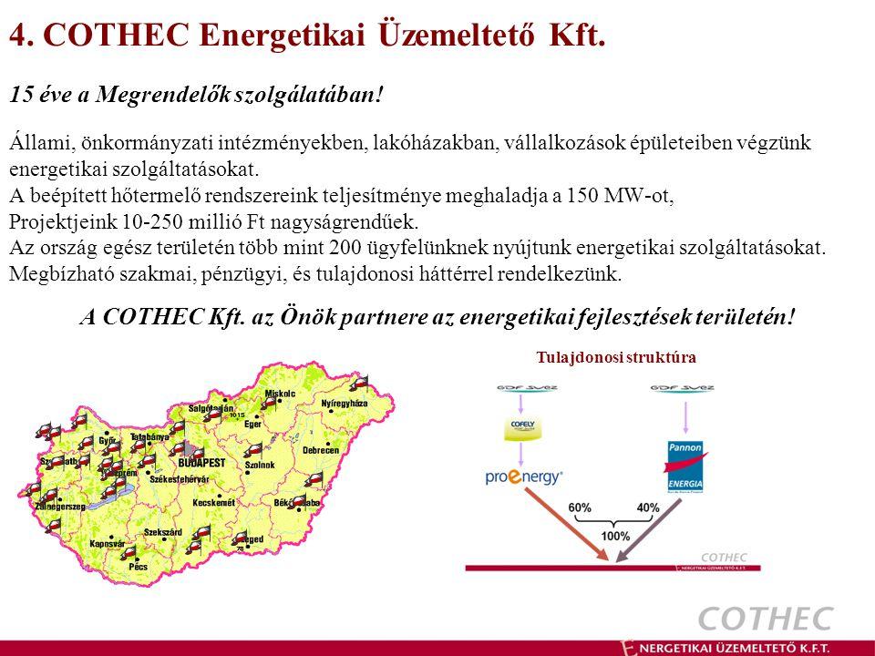 4.COTHEC Energetikai Üzemeltető Kft. 15 éve a Megrendelők szolgálatában.