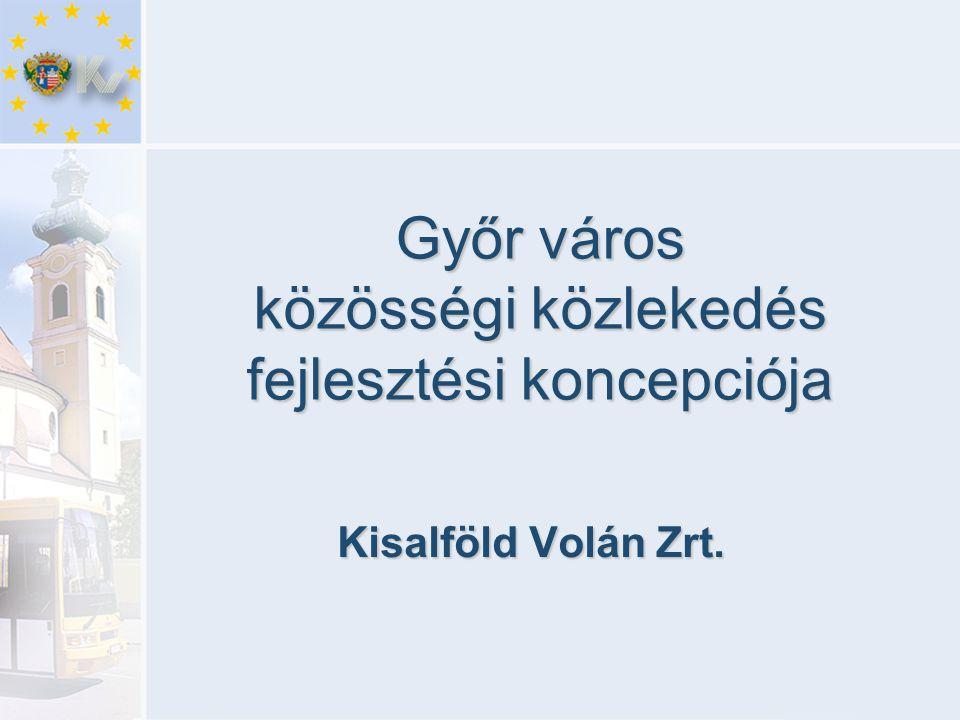 Győr város közösségi közlekedés fejlesztési koncepciója Kisalföld Volán Zrt.