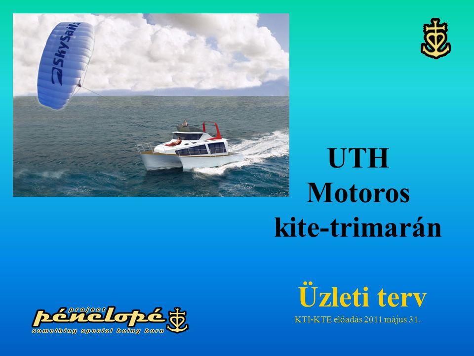 ÜZLETI TERV Pénelopé-X004 trimarán motorhajó üzemeltetésére Bevezető  Az Andreas Kft a Magyar Mérnök Akadémia Alapítvány – Rubik Nemzetközi Alapítványa, valamint a GVOP K+F támogatással, saját K+F fejlesztéssel elkészítette a világ első UTH (Ultra-Thin-Hull) trimarán motor- hajóját, mely különleges műszaki megoldásaival a személyhajózást kényelmesebbé, az utazást kellemesebbé teszi.