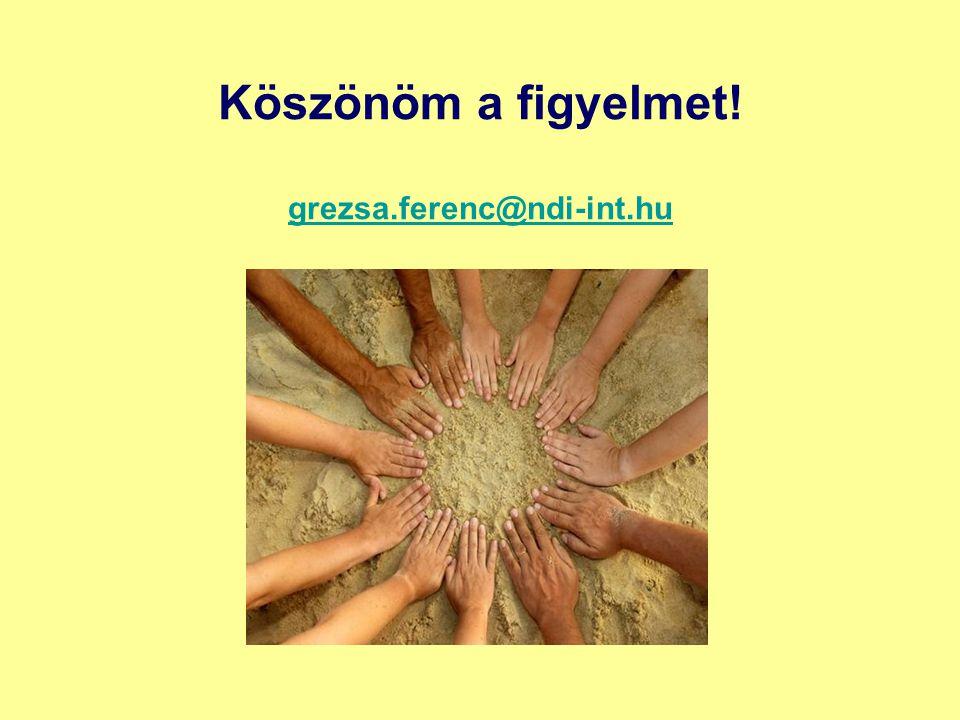 Köszönöm a figyelmet! grezsa.ferenc@ndi-int.hu grezsa.ferenc@ndi-int.hu