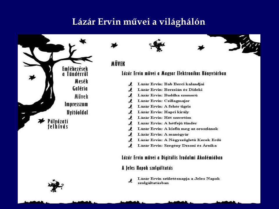 Lázár Ervin művei a világhálón