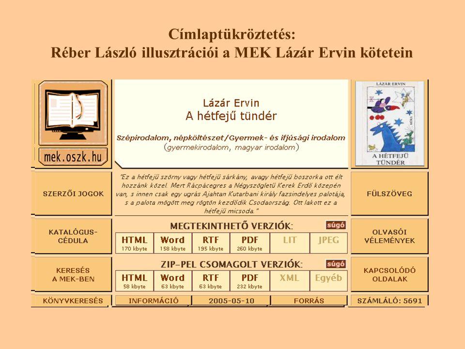 Címlaptükröztetés: Réber László illusztrációi a MEK Lázár Ervin kötetein