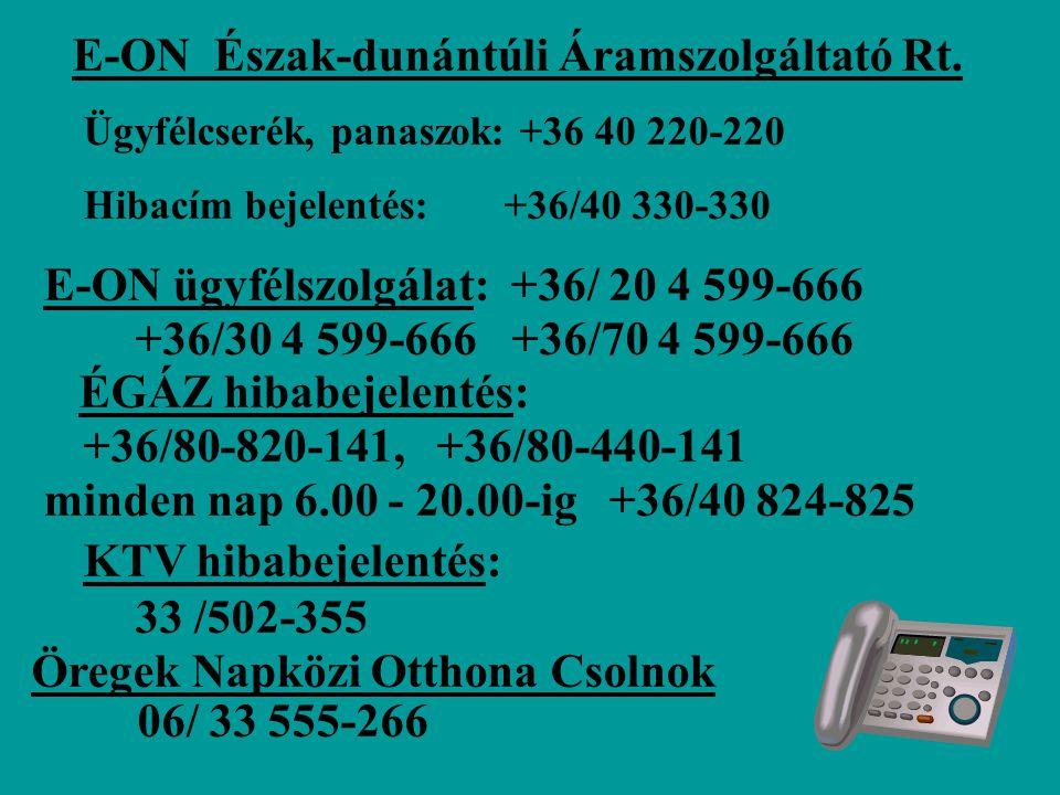 E-ON Észak-dunántúli Áramszolgáltató Rt.