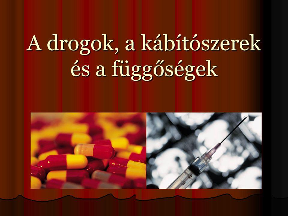  A drog nem feltétlenül kábító hatású szert jelenthet, így például könnyű, vagy kemény drogot, hanem bármely olyan hatású készítményt, amely a szer hozzászokásához, máshogyan fogalmazva függőségéhez vezethet.