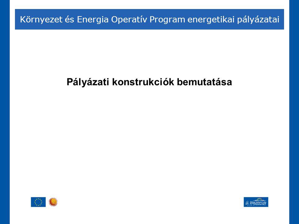 Pályázati konstrukciók bemutatása Környezet és Energia Operatív Program energetikai pályázatai