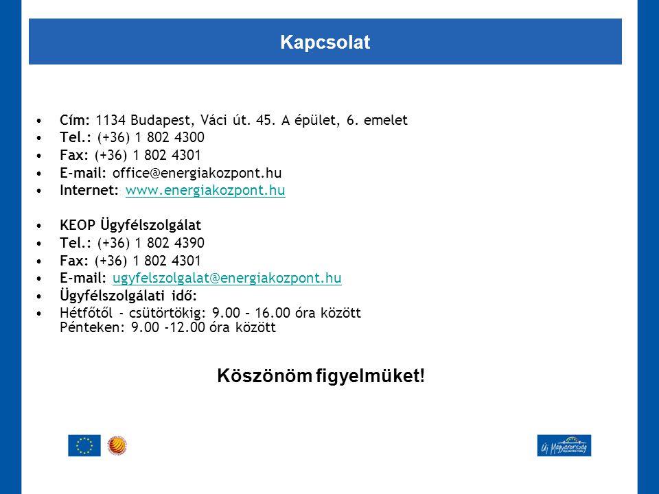 •Cím: 1134 Budapest, Váci út. 45. A épület, 6. emelet •Tel.: (+36) 1 802 4300 •Fax: (+36) 1 802 4301 •E-mail: office@energiakozpont.hu •Internet: www.