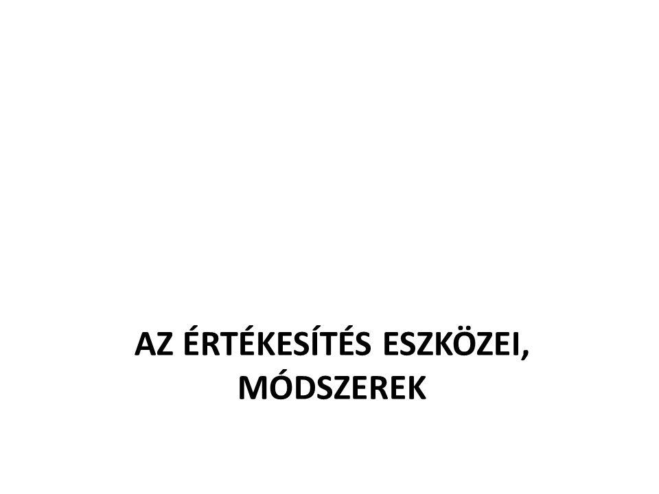 AZ ÉRTÉKESÍTÉS ESZKÖZEI, MÓDSZEREK