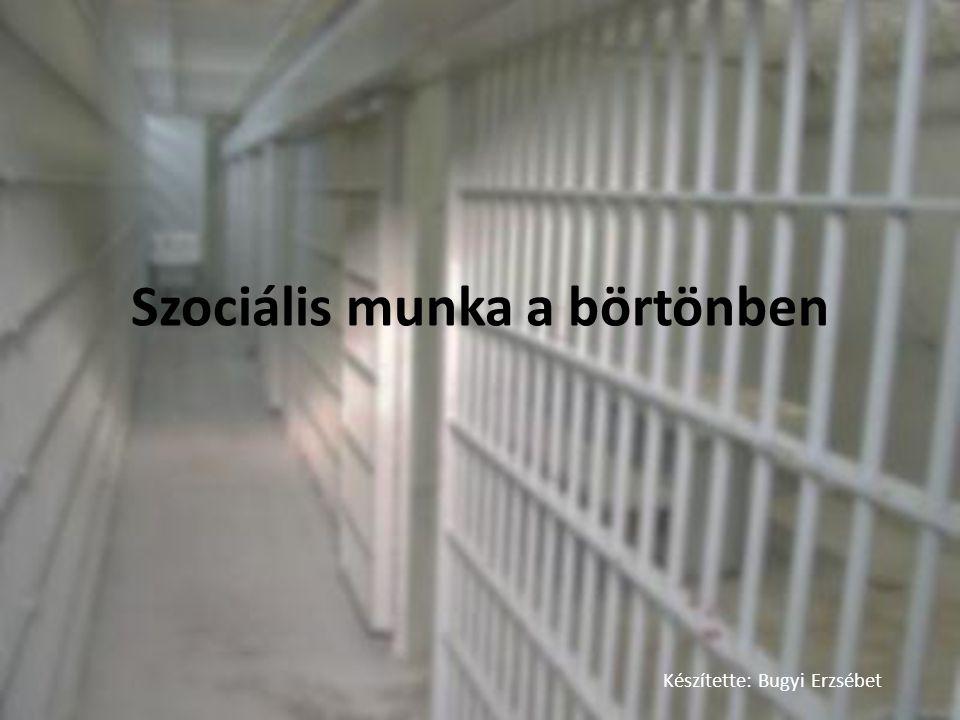 Szociális munka a börtönben Készítette: Bugyi Erzsébet