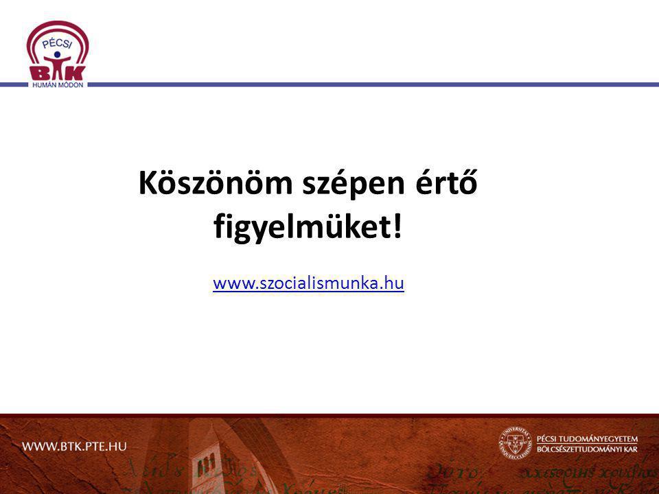 Köszönöm szépen értő figyelmüket! www.szocialismunka.hu