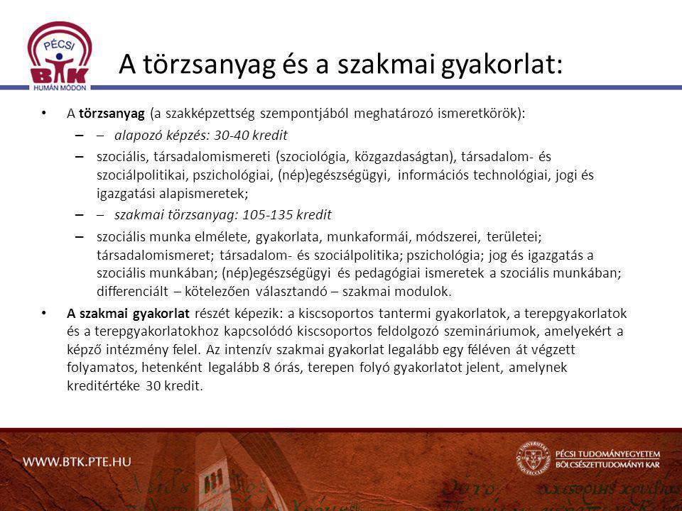 Továbbképzés és szociális szakvizsga • 9/2000.(VIII.