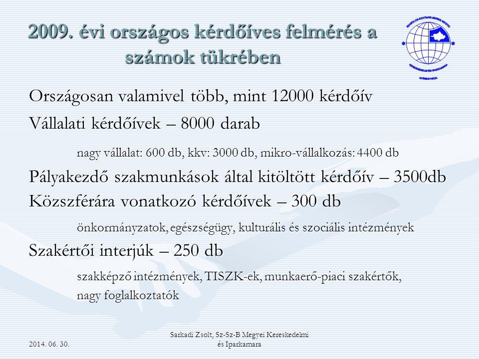 2014. 06. 30. Sarkadi Zsolt, Sz-Sz-B Megyei Kereskedelmi és Iparkamara 2009.