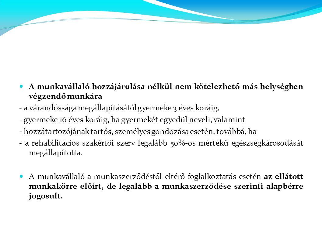  A LEGFONTOSABB VÁLTOZÁSOK A MUNKASZERZŐDÉSTŐL ELTÉRŐ FOGLALKOZTATÁSSAL KAPCSOLATBAN:  2013.