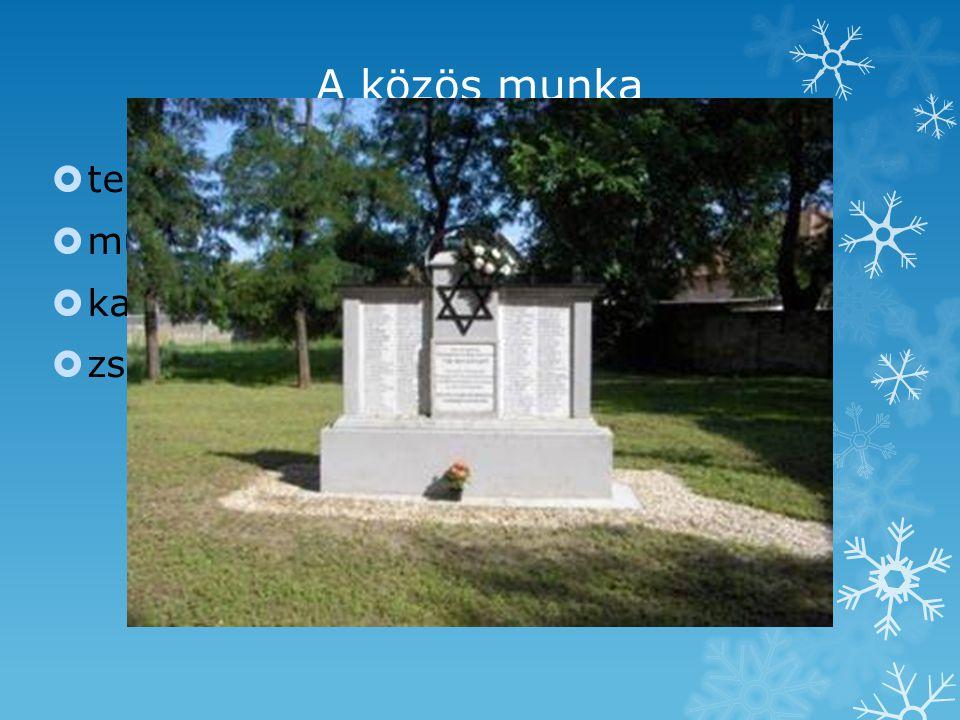 A közös munka  temetőlátogatás  múzeum  kapcsolatfelvétel túlélőkkel  zsinagógalátogatás