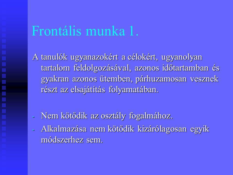Frontális munka 2.
