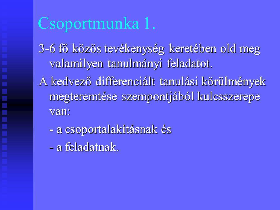 Csoportmunka 2.