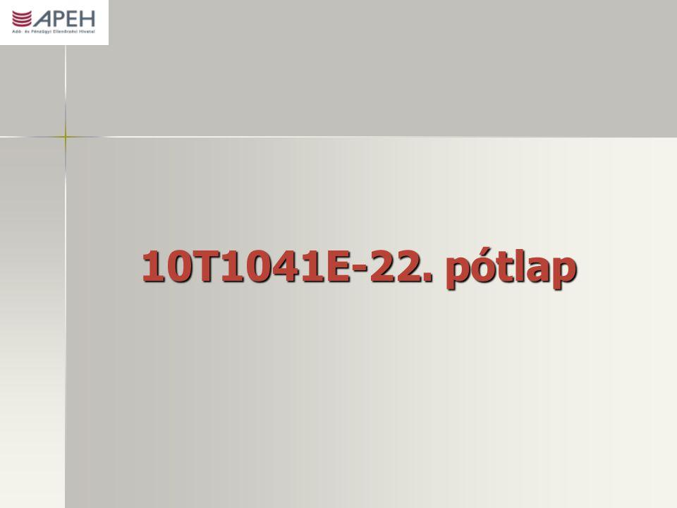 10T1041E-22. pótlap
