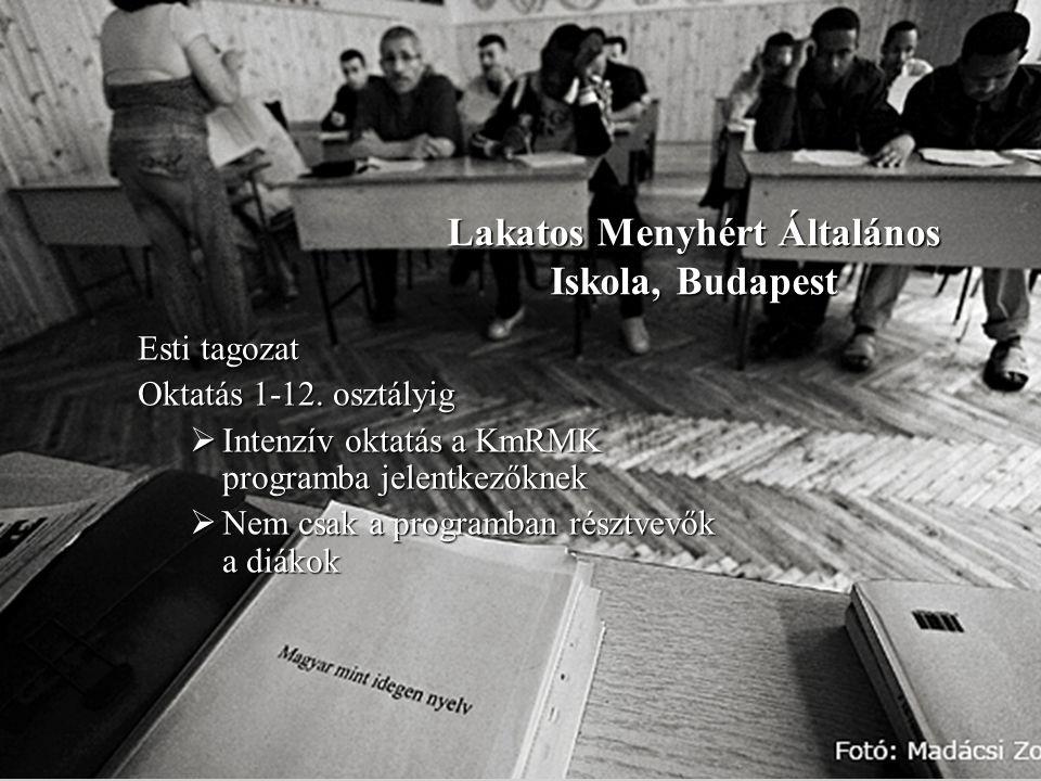 Lakatos Menyhért Általános Iskola, Budapest Esti tagozat Oktatás 1-12.