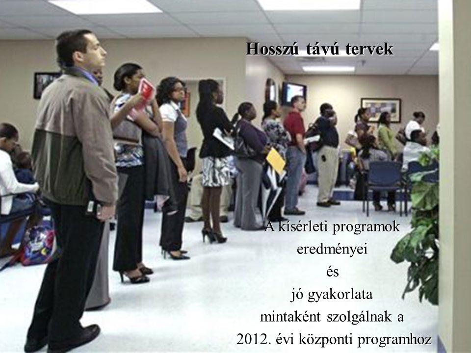 A kísérleti programok eredményeiés jó gyakorlata mintaként szolgálnak a 2012.