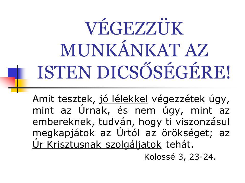 """Konfliktus kezelés Fontos látni a különbséget: a világ konfliktuskezelésének alapelvei (szemet szemért, földbe taposás, homokba dugás, bíróság, addig feszítjük a húrt, amíg a másik ki nem dől) ellentétben állnak a Biblia tanácsaival: Fil 2,3: """"Semmit ne tegyetek önzésből, se hiú dicsőségvágyból, hanem alázattal különbnek tartsátok egymást magatoknál; és senki se a maga használt nézze, hanem mindenki a másokét is.  másik álláspontjának meghallgatása, különbözőség elfogadása,  a jóval meggyőzni a másikat – Róma 12,21  bevonni a közösséget – nem bíróságot – konfliktus feloldó hatalma van – Máté 18,15-20  átengedni Istennek a megoldást, imádkozni Róm 12,19, Kol 4,2  megbocsátani az ellenünk vétkezőknek – Máté 6,12-15."""