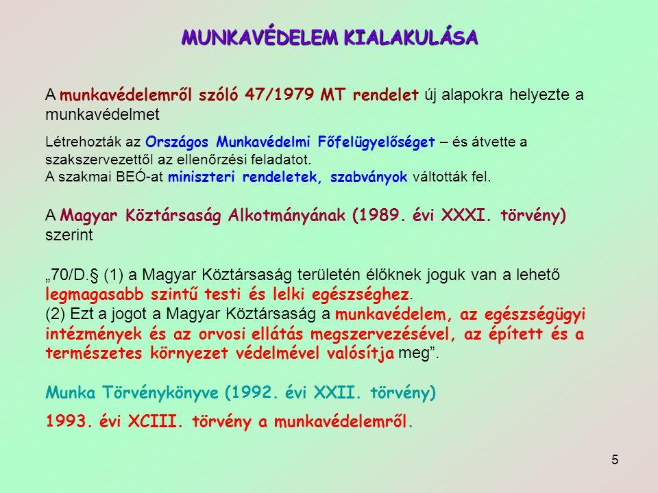 26 MUNKÁLTATÓ MUNKÁLTATÓI MUNKAVÉDELMI KÖTELEZETTSÉGEK RENDSZEREI:  Információátadás.