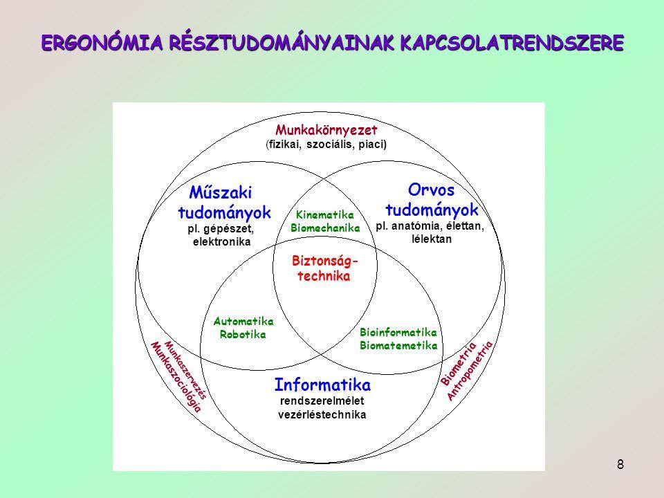 9 ERGONÓMIA Az ergonómia három alapelve:  Illesszük a feladatot és a munkahelyet a felhasználóhoz.