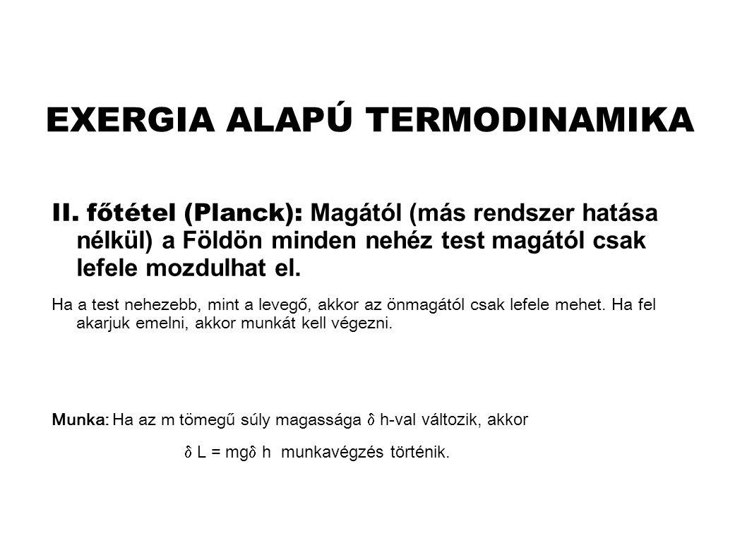 EXERGIA ALAPÚ TERMODINAMIKA II.