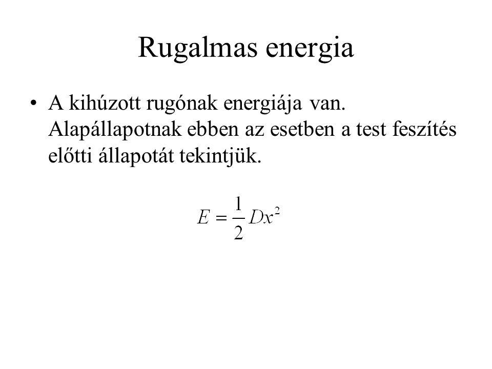 Rugalmas energia •A kihúzott rugónak energiája van.