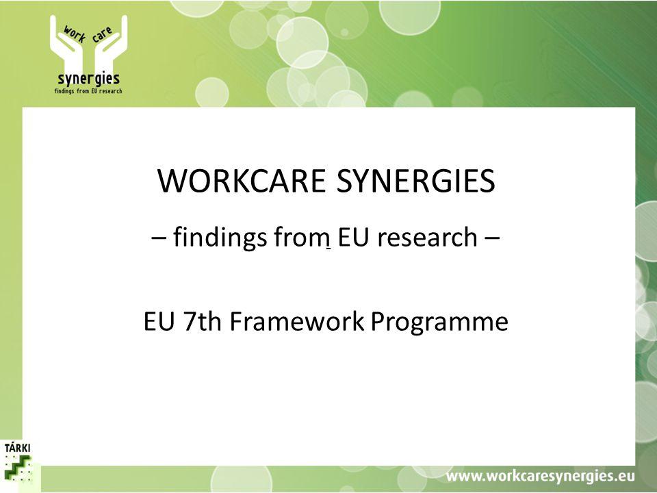 A projekt • Támogatási akció (support action) az Európai Unió 7.