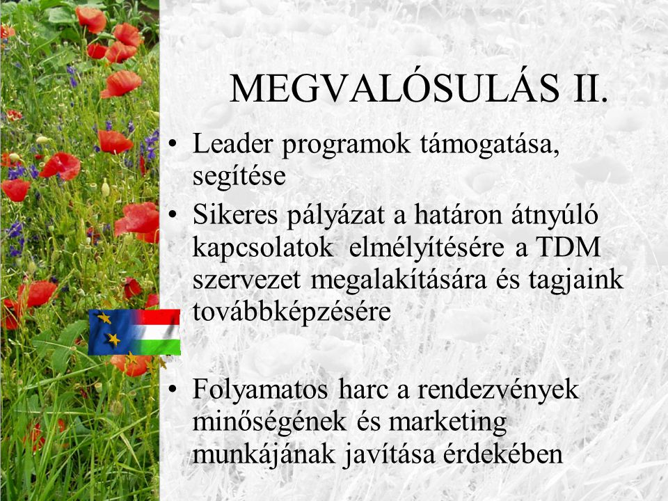 """KÜLFÖLDI KAPCSOLATOK •Az """"EU Házhoz Jön program keretében több előadást tartottam a magyar falusi turizmusról Erdélyben, Kárpátalján, Horvátországban és Szlovákiában •E munka sikerét és eredményességét bizonyítja, hogy a határon túli vidéki magyarság kitörési pontnak tekinti a falusi turizmust és igényelte a szervezett továbbképzést."""