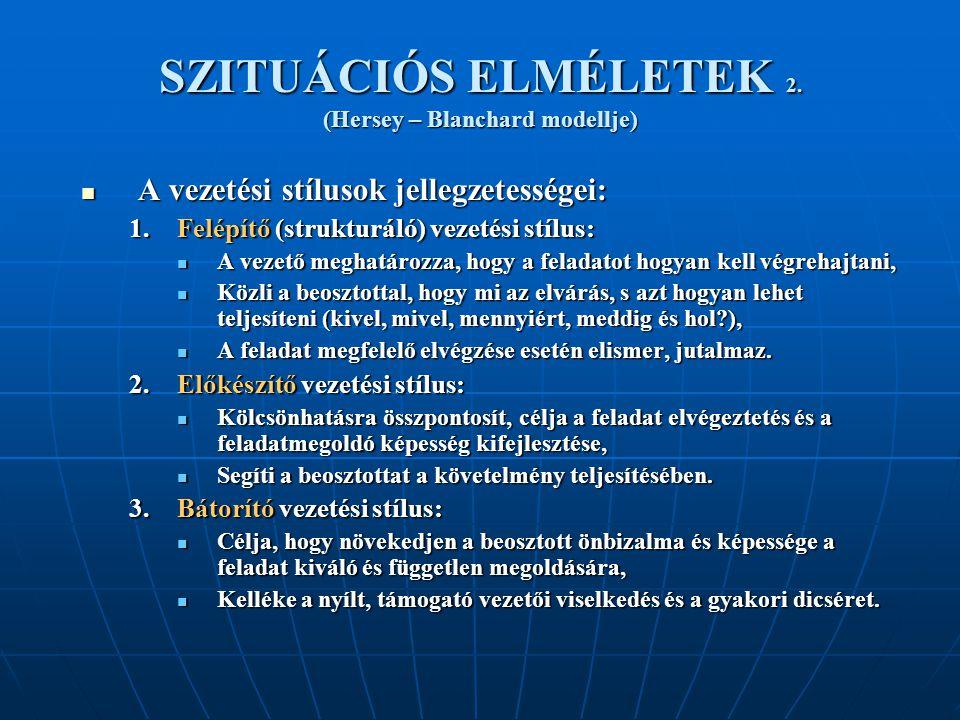SZITUÁCIÓS ELMÉLETEK 2.
