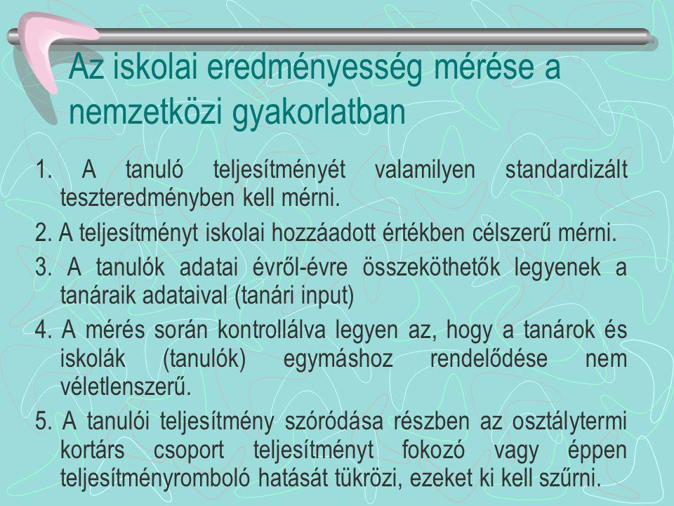 Hatékonysági, eredményességi problémák •Pl.nyelvoktatás: 9-10 évi nyelvtanulás esetén kb.