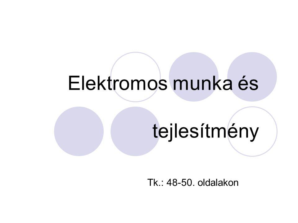 Elektromos fogyasztásmérők Hogyan mérjük az elhasznált elektromos energia mennyiségét.