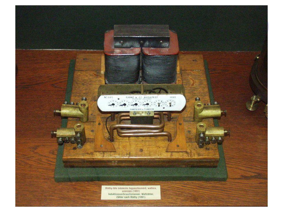 Működési elve: A feszültségtől (U), az átfolyó áram erősségétől (I) és annak idejétől függ (t) az elhasznált el.