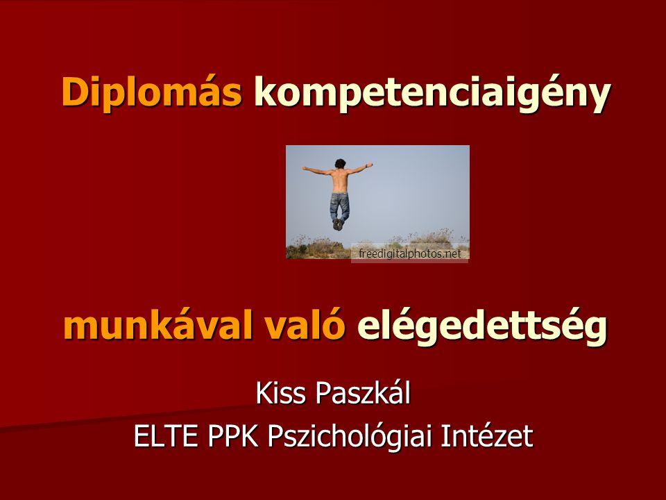 Diplomás kompetenciaigény munkával való elégedettség Kiss Paszkál ELTE PPK Pszichológiai Intézet freedigitalphotos.net