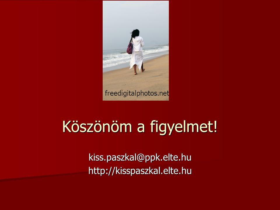 Köszönöm a figyelmet! kiss.paszkal@ppk.elte.huhttp://kisspaszkal.elte.hu freedigitalphotos.net