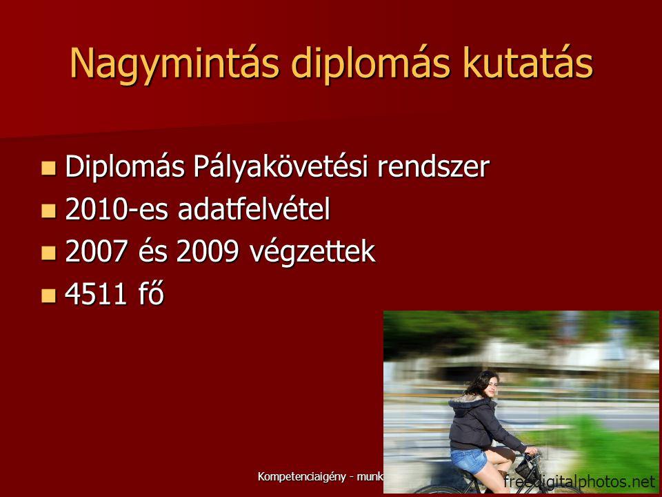 Nagymintás diplomás kutatás  Diplomás Pályakövetési rendszer  2010-es adatfelvétel  2007 és 2009 végzettek  4511 fő 5Kompetenciaigény - munkaelégedettség freedigitalphotos.net