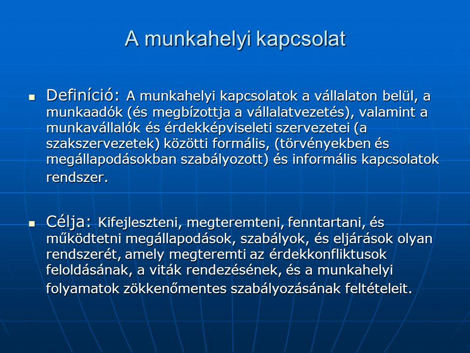 A munkaviszonyra vonatkozó általános szabályok (1) Ezek néha az un.