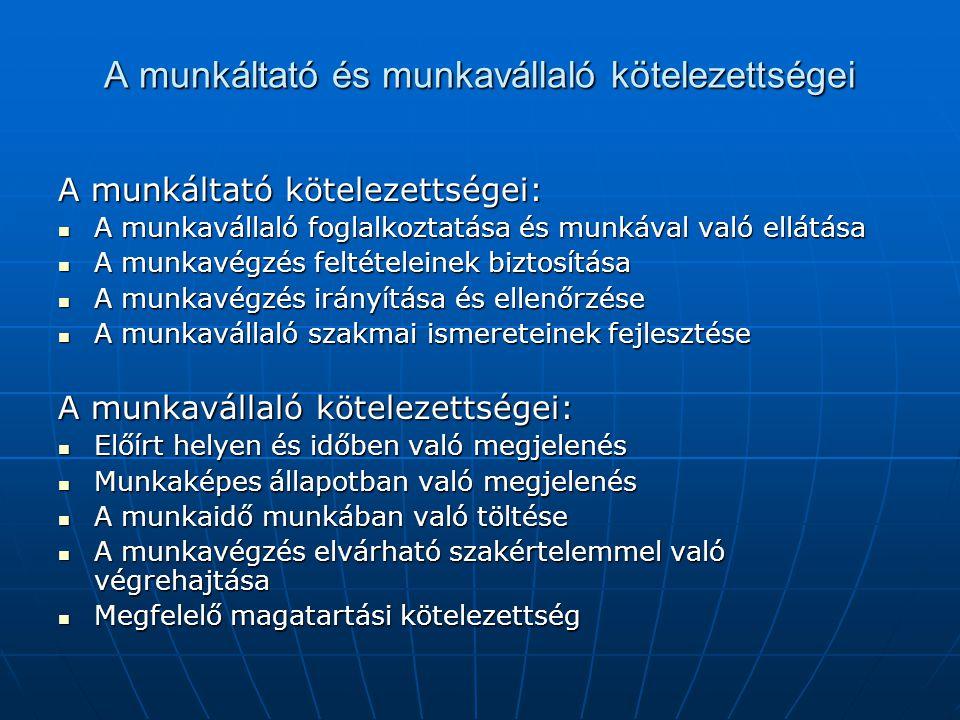 A munkaviszony létesítésének szabályozása (1) Munkaviszonyt szerződés alapján lehet létesíteni.
