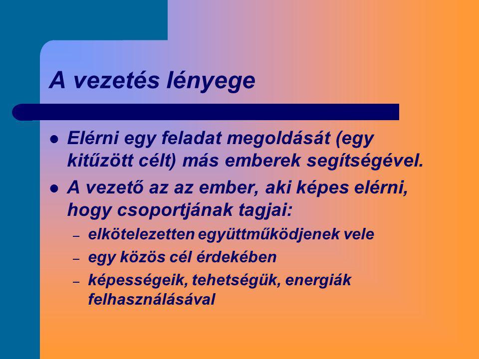 A neoklasszikus vezetéselméleti irányzat 1.E.