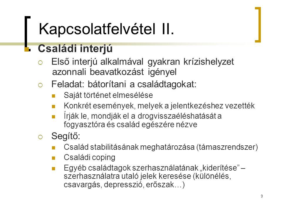 9 Kapcsolatfelvétel II.