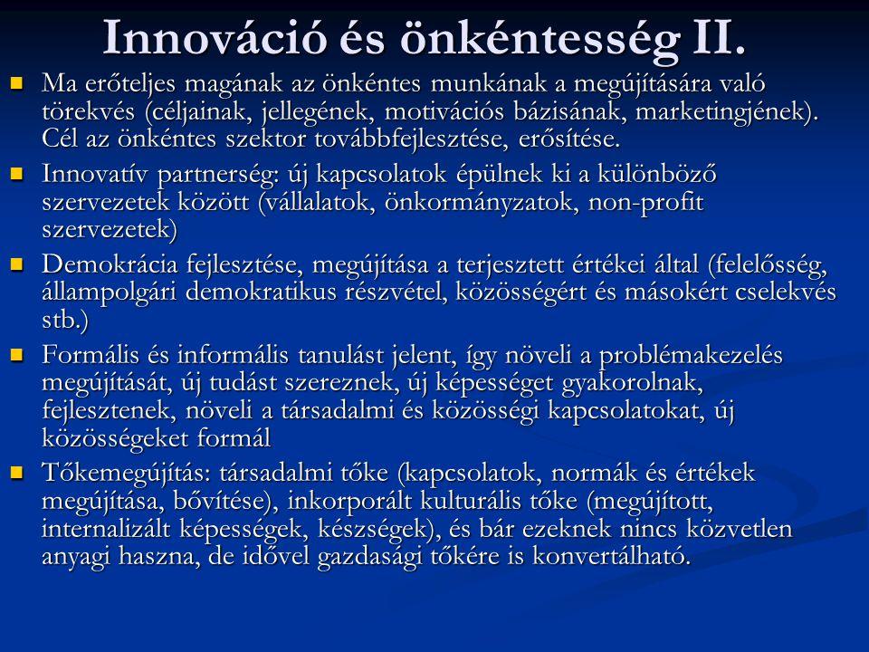 Innováció és önkéntesség II.