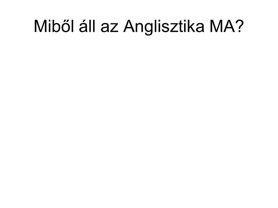 Miből áll az Anglisztika MA?