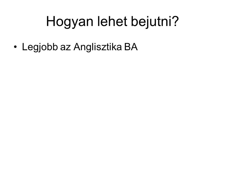 •Legjobb az Anglisztika BA