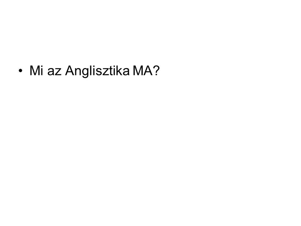 •Mi az Anglisztika MA