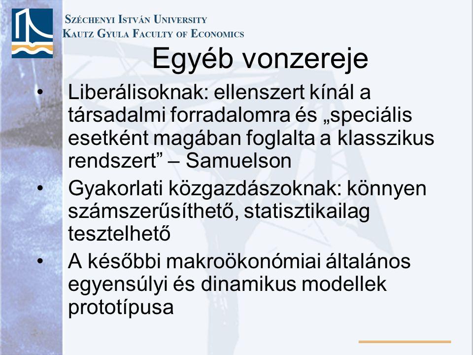"""•Liberálisoknak: ellenszert kínál a társadalmi forradalomra és """"speciális esetként magában foglalta a klasszikus rendszert"""" – Samuelson •Gyakorlati kö"""