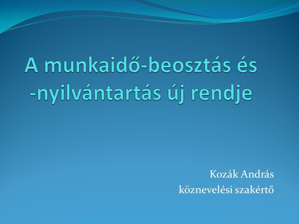 Kozák András köznevelési szakértő