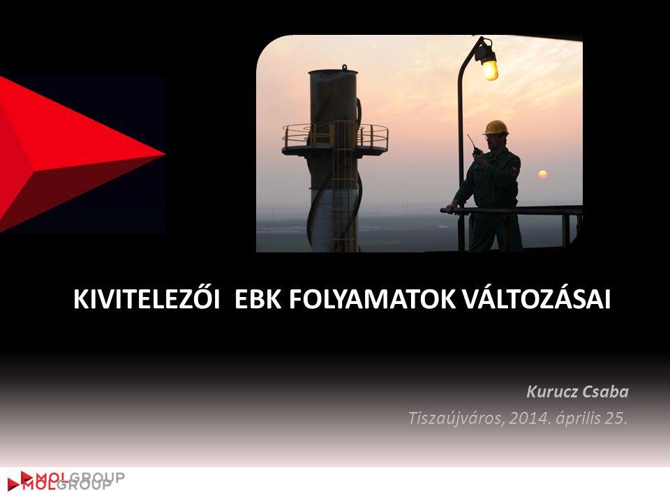 KIVITELEZŐI EBK FOLYAMATOK VÁLTOZÁSAI Kurucz Csaba Tiszaújváros, 2014. április 25.