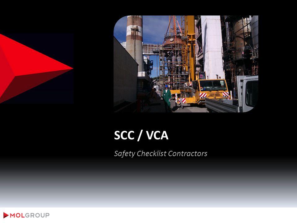 SCC / VCA Safety Checklist Contractors